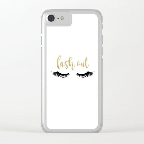 Lash Out Clear iPhone Case