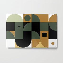 Mid-Century Geometric Tile Metal Print