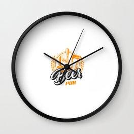 Conceito De Logotipo De Pub De Cerveja Vintage Wall Clock