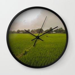 The Rice Paddies of Nepal 001 Wall Clock