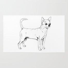 Chihuahua Ink Drawing Rug