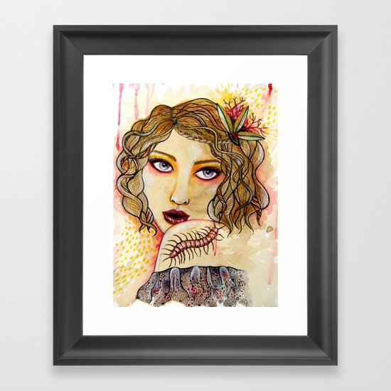 Cecilia and the Centipede Framed Art Print