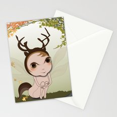 Deery Fairy under Autumn Leaves Stationery Cards
