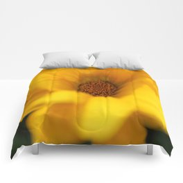 Yellow Flower  Comforters