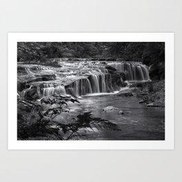 Ledge Falls, No. 4 bw Art Print