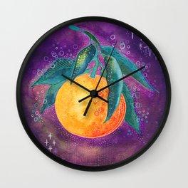 Cosmic orange Wall Clock