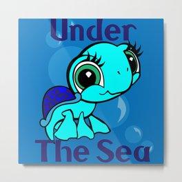 Under The Sea- Turtle Metal Print