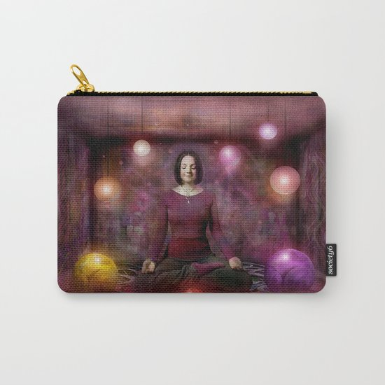 Woman in Meditation Carry-All Pouch