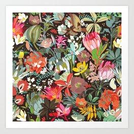 Floral maximalism Art Print