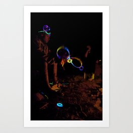 Electric Night Time Art Print