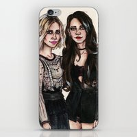 sarah paulson iPhone & iPod Skins featuring Sarah x Lana by vooce & kat