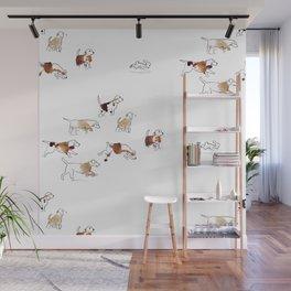 Beagles hunting Wall Mural