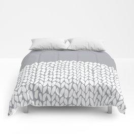 Half Knit Grey Comforters