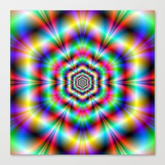 Psychedelic Hexagon Rings Canvas Print