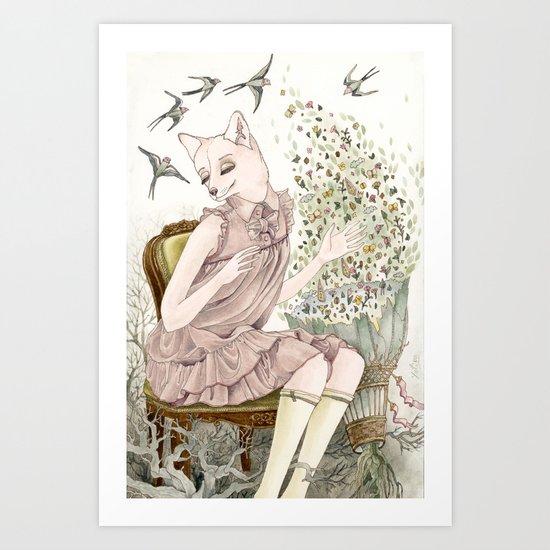 Enchanted Fox Art Print