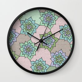 zakiaz lotus design Wall Clock