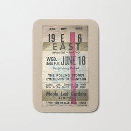 Concert Ticket Stub - Stones Bath Mat