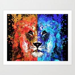 Lion Art - Majesty - Sharon Cummings Art Print