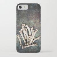 bones iPhone & iPod Cases featuring Bones by Maria Heyens