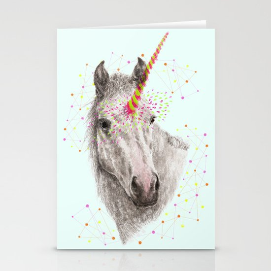 Unicorn V Stationery Cards