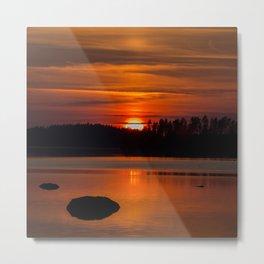 Beautiful Sunset with Strong Orange Color #decor #society6 #buyart Metal Print