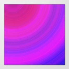 Neon Pink Blue Circles Canvas Print