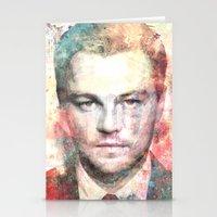 leonardo dicaprio Stationery Cards featuring Leonardo DiCaprio by Nechifor Ionut