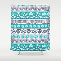 tribal Shower Curtains featuring Tribal by Julscela
