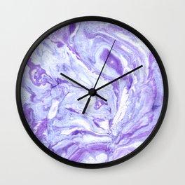 Purple & Blue Marbling Wall Clock