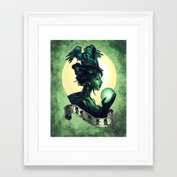 wicked Framed Art Prints featuring WICKED by Tim Shumate