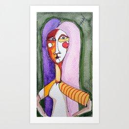 Anthen girl Art Print