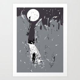 Moonlight Town (Dreamscapes) Art Print