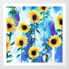 Sunflower Sky Art Print