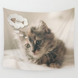 Dreaming Cat Wall Tapestry