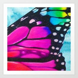 Butterfly Wings Pink Art Print