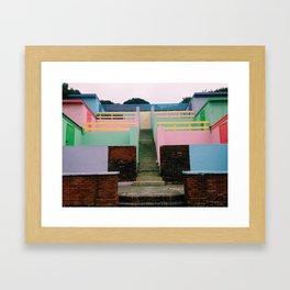 Steps in Colour, Folkestone Kent Framed Art Print