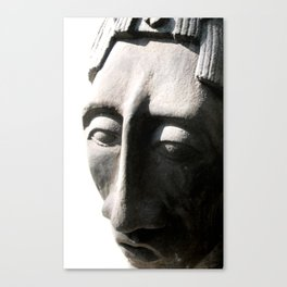 pacal bust one Canvas Print