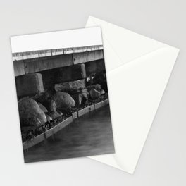 Pier black white Stationery Cards