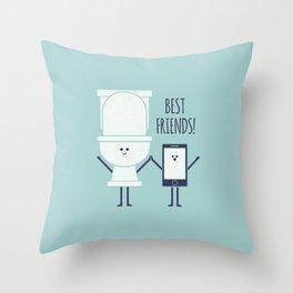 BFFS Throw Pillow