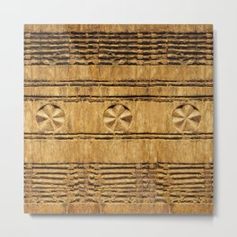 African decoration on wood Metal Print
