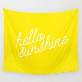 Hello Sunshine Script Wall Tapestry