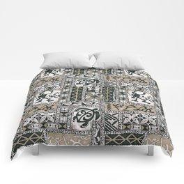 Hawaiian Honu Tapa Cloth Comforters