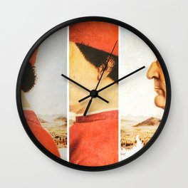 Art Remix of Piero della Francesca Wall Clock
