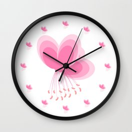 Cherry Blossom - In Memory of Mackenzie Wall Clock