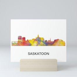 Saskatoon, Saskatchewan Canada Skyline WB1 Mini Art Print