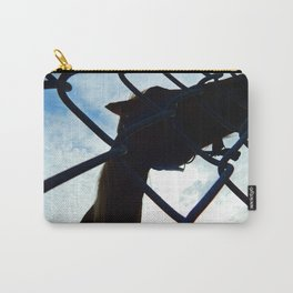 Horse at the Fence Carry-All Pouch