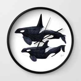 Orca male and female Wall Clock