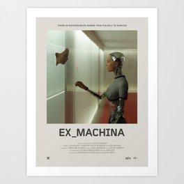 Ex Machina (2014) Minimalist Poster Art Print