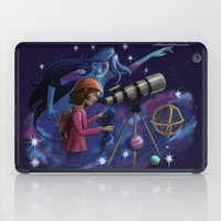 astronomy iPad Cases featuring Muse of Astronomy by Jessica Chrysler