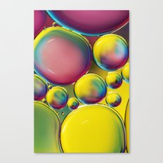 Abstract Oil Drops V Canvas Print